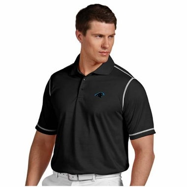 Carolina Panthers Mens Icon Polo (Team Color: Black)