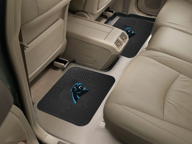 Carolina Panthers SET OF 2 Heavy Duty Vinyl Rear Car Mats