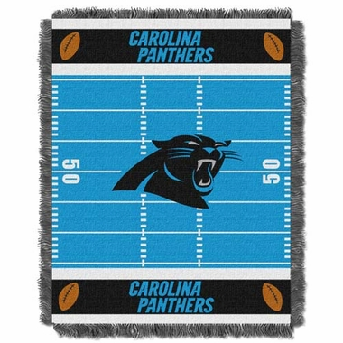 Carolina Panthers Jacquard BABY Throw Blanket
