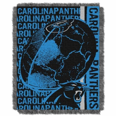 Carolina Panthers Jacquard Woven Throw Blanket