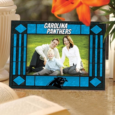 Carolina Panthers Landscape Art Glass Picture Frame