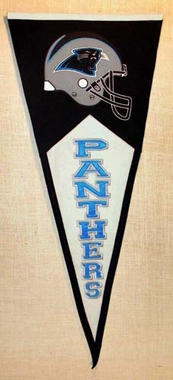 Carolina Panthers Large Wool Pennant