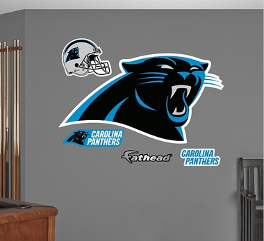 Carolina Panthers Logo Fathead Wall Graphic