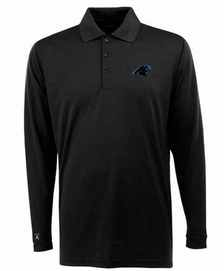 Carolina Panthers Mens Long Sleeve Polo Shirt (Team Color: Black)
