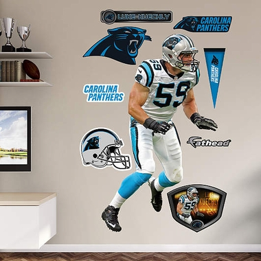Carolina Panthers Luke Kuechly Fathead Wall Graphic