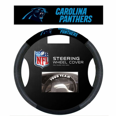Carolina Panthers Mesh Steering Wheel Cover