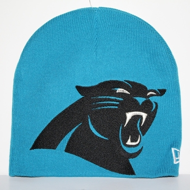 Carolina Panthers New Era Big One Too Cuffless Knit Hat