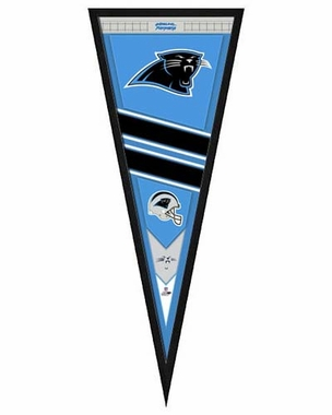 "Carolina Panthers Pennant Frame - 13""x33"" (No Glass)"