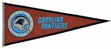 Carolina Panthers Pigskin Pennant