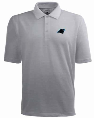 Carolina Panthers Mens Pique Xtra Lite Polo Shirt (Color: Gray)