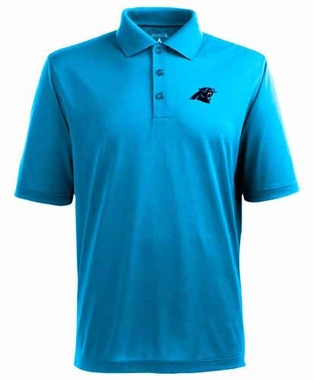 Carolina Panthers Mens Pique Xtra Lite Polo Shirt (Color: Aqua)