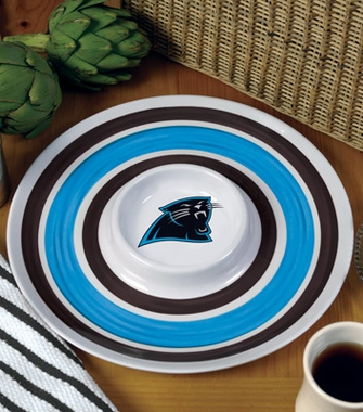 Carolina Panthers Plastic Chip and Dip Plate