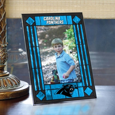 Carolina Panthers Portrait Art Glass Picture Frame