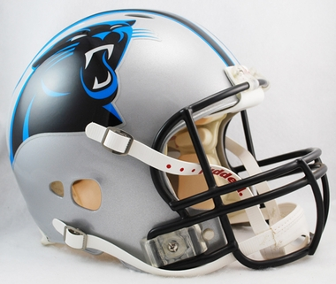 Carolina Panthers Riddell Full Size Authentic Revolution Helmet