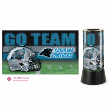 Carolina Panthers Rotating Lamp