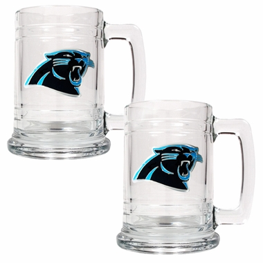 Carolina Panthers Set of 2 15 oz. Tankards