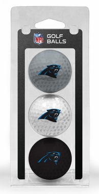 Carolina Panthers Set of 3 Multicolor Golf Balls
