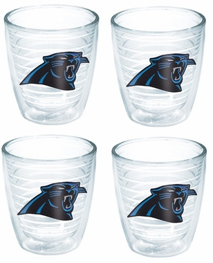 Carolina Panthers Set of FOUR 12 oz. Tervis Tumblers