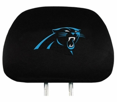 Carolina Panthers Set of Headrest Covers