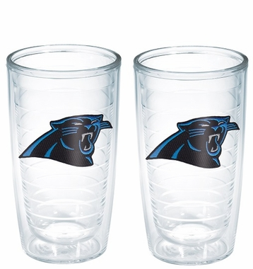 Carolina Panthers Set of TWO 16 oz. Tervis Tumblers