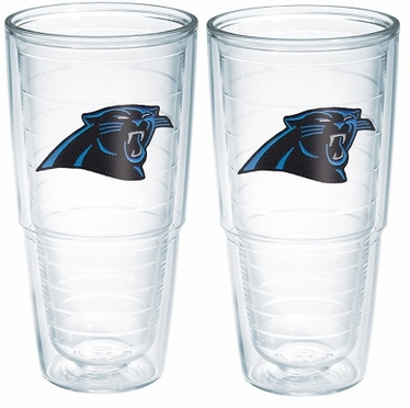 "Carolina Panthers Set of TWO 24 oz. ""Big T"" Tervis Tumblers"