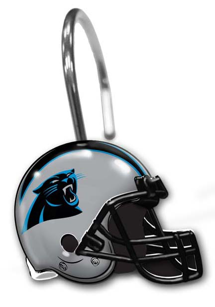 ... Shop By Category Bedding & Bath Carolina Panthers Shower Curtain Rings