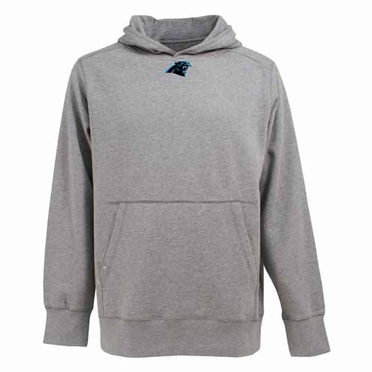 Carolina Panthers Mens Signature Hooded Sweatshirt (Color: Gray)
