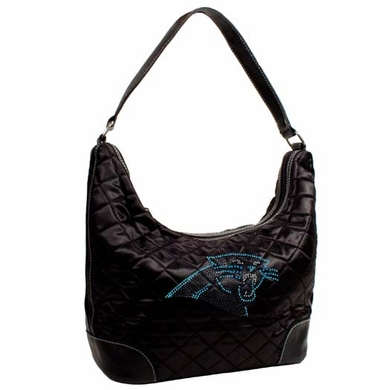 Carolina Panthers Sport Noir Quilted Hobo