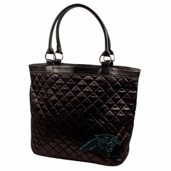 Carolina Panthers Sport Noir Quilted Tote