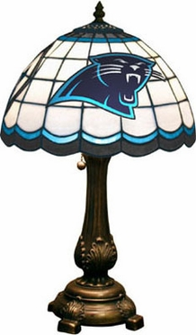 Carolina Panthers Stained Glass Table Lamp