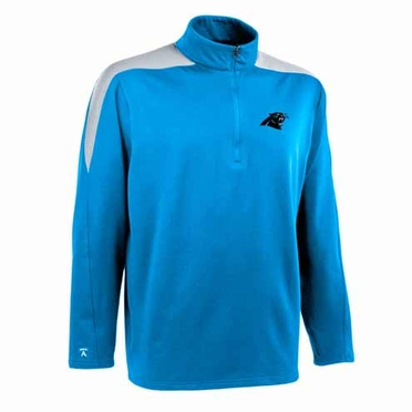 Carolina Panthers Mens Succeed 1/4 Zip Performance Pullover (Team Color: Aqua)