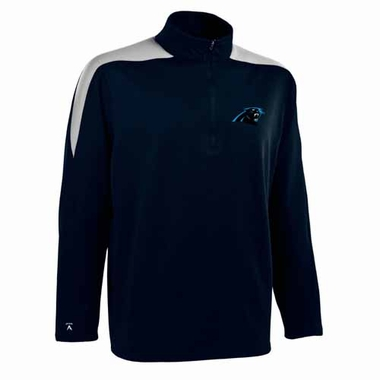 Carolina Panthers Mens Succeed 1/4 Zip Performance Pullover (Color: Smoke)