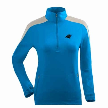 Carolina Panthers Womens Succeed 1/4 Zip Performance Pullover (Team Color: Aqua)