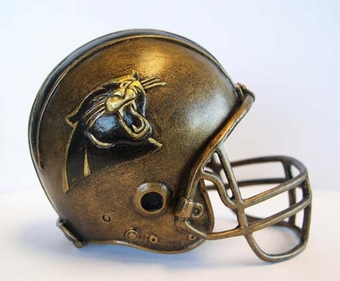 Carolina Panthers Tim Wolfe Helmet Statue