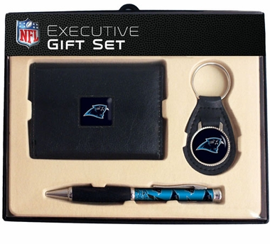 Carolina Panthers Trifold Wallet Key Fob and Pen Gift Set