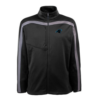 Carolina Panthers Mens Viper Full Zip Performance Jacket (Team Color: Black)