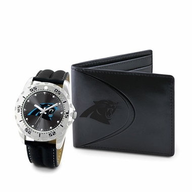 Carolina Panthers Watch and Wallet Gift Set