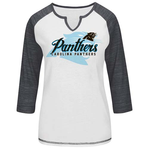 Womens Carolina Panthers Majestic Carolina Blue Draft Me VII T-Shirt