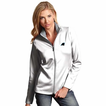 Carolina Panthers Womens Leader Jacket (Color: White)