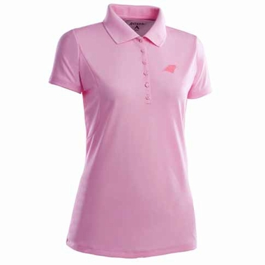 Carolina Panthers Womens Pique Xtra Lite Polo Shirt (Color: Pink)