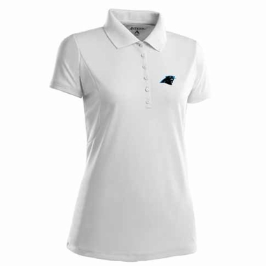 Carolina Panthers Womens Pique Xtra Lite Polo Shirt (Color: White)