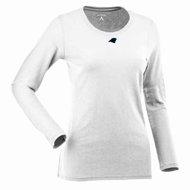 Carolina Panthers Womens Relax Long Sleeve Tee (Color: White)