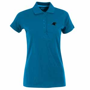 Carolina Panthers Womens Spark Polo (Team Color: Aqua) - Medium