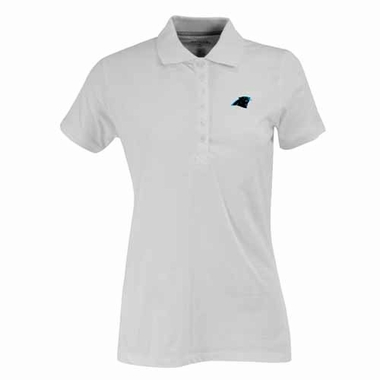 Carolina Panthers Womens Spark Polo (Color: White)