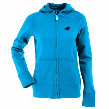 Carolina Panthers Womens Zip Front Hoody Sweatshirt (Team Color: Aqua)