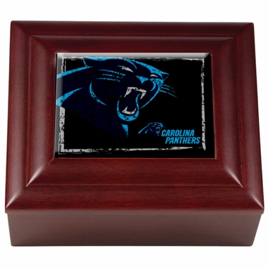 Carolina Panthers Wooden Keepsake Box