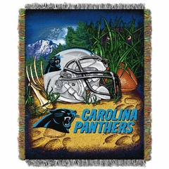Carolina Panthers Woven Tapestry Throw Blanket