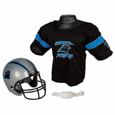 Carolina Panthers Youth Helmet and Jersey Set