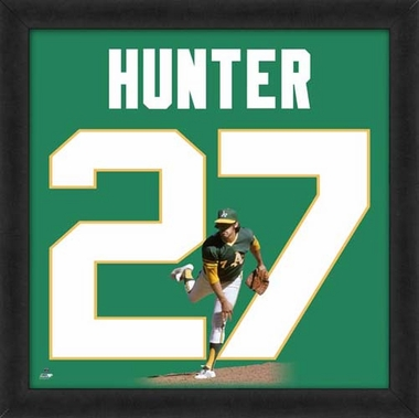 "Catfish Hunter, A's UNIFRAME 20"" x 20"""