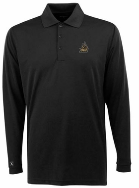 Central Florida Mens Long Sleeve Polo Shirt (Team Color: Black)